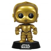 Funko POP C-3PO 13 Star Wars Robô Bobble-Head Boneco